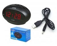 Часы сетевые VST 711-1 красные цифры, без блока питания