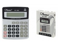 Калькулятор Kenko 1800 настольный, 12 разрядный, размер 11х14 см, серебристый