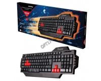 Клавиатура игровая SmartBuy SBK-201GU-K RUSH USB Black 104 клавиши+8 дополнительных клавиш мультимедийная
