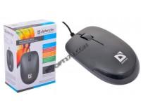 Мышь Defender Datum MM-010 USB Optical (1000 dpi) черная, 2 кнопки+колесо-кнопка, коробка