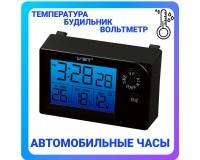 Часы автомобильные VST 7048V установка в штатное место панели приборов, дата, время, будильник, вольтметр, темпратура внутренняя и наружная