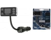 FM трансмиттер Defender RT-PRO 12В, USB/SD/HDD, автомобильный, пульт, USB зарядка, на гибкой ножке, блистер (83551), черный