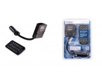 FM трансмиттер Defender RT-Feet 12В, USB/SD/HDD, автомобильный, пульт, на гибкой ножке, блистер (83552), черный