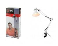Лампа настольная Эра N-121-E27-40W-W белый, струбцина, коробка