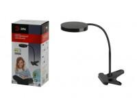 Лампа настольная Эра NLED-435-4W-BK черный, светодиодный, 6 LED, 3000К, прищепка, коробка