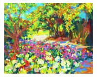Набор для живописи на холсте 40х50 Белоснежка 894-АВ Розы. Южная терраса дворца РАСПРОДАЖА!!!