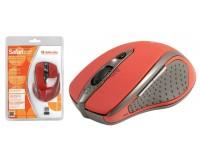 Мышь беспроводная Defender MM-675 Safari USB Optical(800/1200/1600dpi) красная, 5 кнопок+кнопка-колесо блистер (52676)
