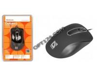 Мышь Defender Datum MM-070 USB Optical (1000dpi) черная, 4 кнопки+колесо-кнопка, блистер