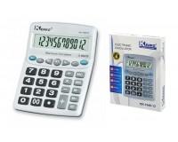 Калькулятор Kenko 1048-12 настольный, 12 разрядный, размер 16х20 см, серебристый