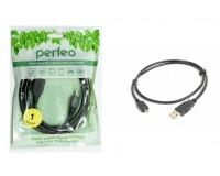 Кабель miniUSB Perfeo длина 1м, пакет, черный (U4301)