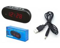 Часы сетевые VST 712-1 красные цифры, без блока питания