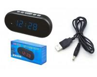 Часы сетевые VST 712-5 синие цифры, без блока питания