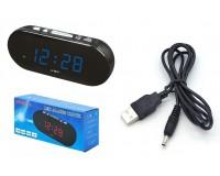 Часы сетевые VST 715-5 синие цифры, без блока питания