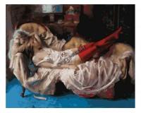 Набор для живописи на цветном холсте 40х50 Белоснежка 936-AB-C Сон прекрасной незнакомки РАСПРОДАЖА!!!
