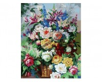 Набор для живописи на цветном холсте 40х50 Белоснежка 319-CG-C Цветочная феерия РАСПРОДАЖА!!!