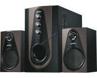 Акустические системы 2.1 Perfeo PF-103-BT Scenic 20+2х5Вт BLUETOOTH, FM-тюнер, USB/SD, ПДУ, чёрно-коричневый