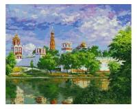 Набор для живописи на холсте 40х50 Белоснежка 019-AB Новодевичий монастырь РАСПРОДАЖА!!!