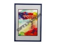 Рамка Image Art 6008-8/F 21х30 пластик, синий, с подставкой РАСПРОДАЖА!!!