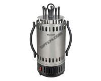 Электрошашлычница Maxwell MW-1990 1000 Вт, 5 шампуров, автоотключение Black/Silver