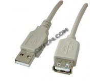 Кабель USB A штекер - USB A гнездо Орбита длина 5м, пакет, серый (TD-318)
