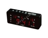 Часы VST VST762WX-1 будильник, дата, температура, сетевые, красные цифры