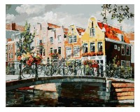 Набор для живописи на холсте 40х50 Белоснежка 119-AB Амстердам. Мост через канал РАСПРОДАЖА!!!