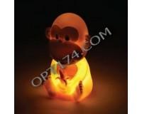 Светильник декоративный Космос KOCNL-EL106 0.1Вт 4.5В Светодиодная фигурка - обезьянка (символ 2016 года) 3xAG13