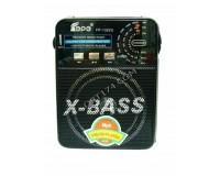 Приемник Fepe FP-1322U аккумуляторно-сетевой, AUX/USB/SD/microSD до 32Гб, питание: аккумулятор встроенный (зарядка 220V) / 220V шнур в комплекте / 4*R20 (в комплект не входят), размер: 16х12х7, 5см, фонарик