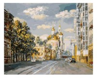 Набор для живописи на холсте 40х50 Белоснежка 116-AB Церковь Никиты Мученика в Старой Басманной РАСПРОДАЖА!!!