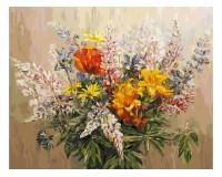 Набор для живописи на холсте 40х50 Белоснежка 105-AB Букет с желтыми лилиями РАСПРОДАЖА!!!