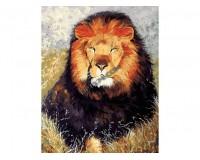 Набор для живописи на холсте 40х50 Белоснежка 154-AB Царь зверей РАСПРОДАЖА!!!