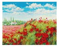 Набор для живописи на холсте 40х50 Белоснежка 155-AB Маковое поле РАСПРОДАЖА!!!