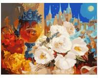 Набор для живописи на холсте 30х40 Белоснежка 080-AS Тихая ночь РАСПРОДАЖА!!!