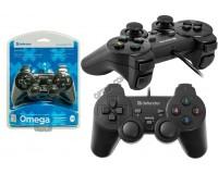 Геймпад PC Defender Omega 12 функциональных кнопок, аналоговый джойстик, вибрация, блистер (64247)