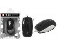 Мышь Defender MS-940 USB Optical (1200 dpi) черная, 2 кнопки+колесо-кнопка коробка (52940)