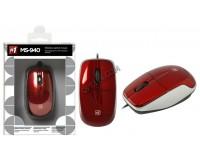 Мышь Defender MS-940 USB Optical (1200 dpi) красная, 2 кнопки+кнопка-колесо коробка (52941)