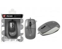 Мышь Defender MS-940 USB Optical (1200 dpi) серая, 2 кнопки+колесо-кнопка коробка (52942)