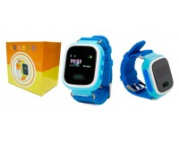 Часы Smart - GP-02 детские с GPS, кнопка SOS, громкость, электронный забор синие