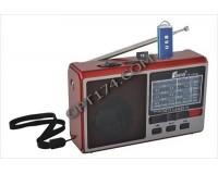 Приемник Fepe FP-1510U аккумуляторный, AUX/USB/microSD до 32Гб, Bluetooth, питание: от аккумулятора BL-5C (в комплекте) / 3*АА(R6) - в комплект не входят, размер: 13х8х4см, фонарик
