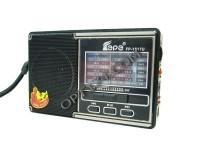 Приемник Fepe FP-1517U аккумуляторный, AUX/USB/microSD до 32Гб, питание: от аккумулятора BL-5C (в комплекте) / 3*АА(R6) - в комплект не входят, размер: 13х8х4см, фонарик