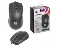 Мышь Defender MB-160 Optimum USB Optical (1000 dpi) черная, 2 кнопки+кнопка-колесо коробка