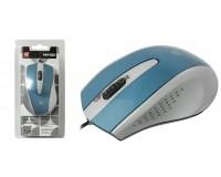 Мышь Defender MM-920 USB Optical (1200dpi) черно-голубая, 2 кнопки+кнопка-колесо блистер (52921)