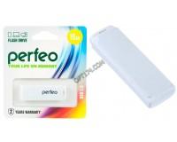 Флэш диск 16 GB USB 2.0 Perfeo C04 White с колпачком