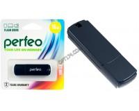 Флэш диск 16 GB USB 2.0 Perfeo C05 Black с колпачком