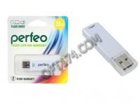 Флэш диск 32 GB USB 2.0 Perfeo C06 White с колпачком