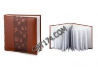 Фотоальбом BRAUBERG 390483 200 фотографий 10х15 обложка под кожу, коричневый, поля для записи