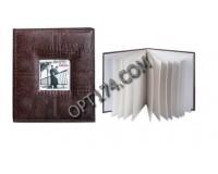 Фотоальбом BRAUBERG 390493 20 магнитных листов 23х28 см на кольцах, обложка под кожу, темно-коричневый