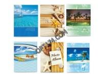Фотоальбом BRAUBERG 390651 36 фотографий 10х15 мягкая обложка, Вид на океан, ассорти