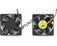 Вентилятор для корпуса Gembird D50SM-12AS 50x50x10мм, 3pin, провод 25 см, втулка
