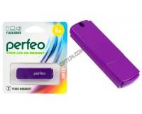 Флэш диск 8 GB USB 2.0 Perfeo C05 Purple с колпачком